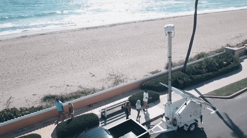 Security2Go Unit by the Ocean